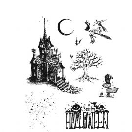 Stampers Anonymous/Tim Holtz - Cling Mount Stamp Set - Haunted House - CMS308